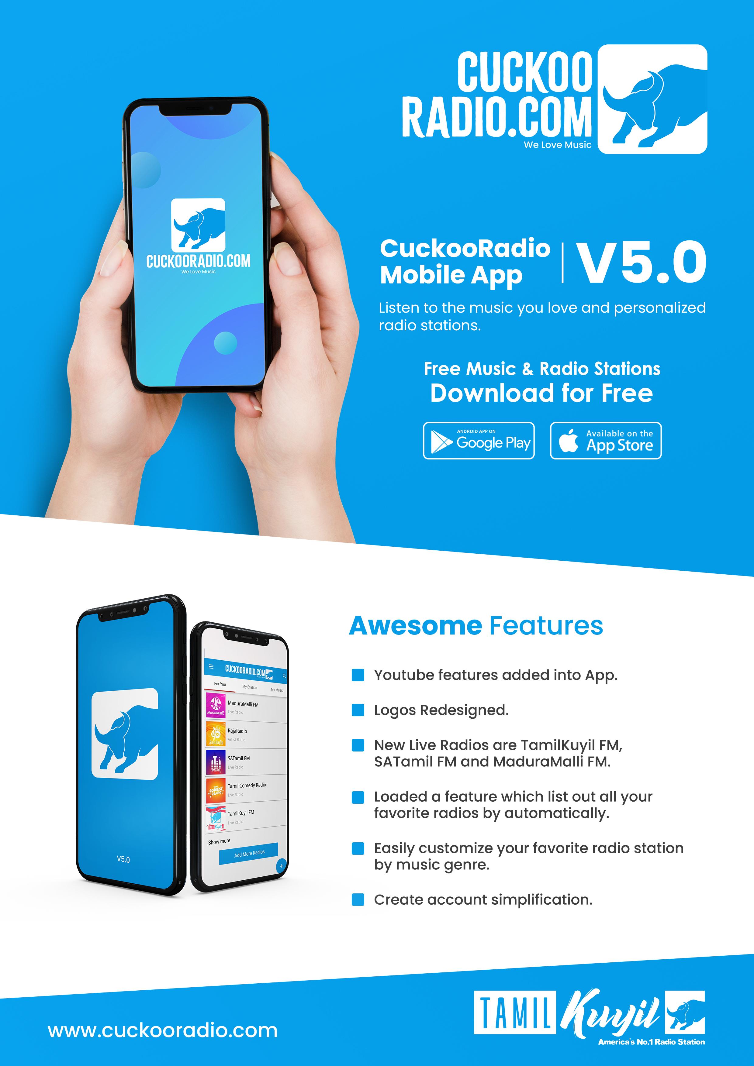 Cuckoo Radio New App