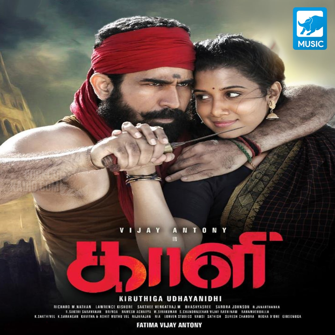 Kaali is a 2018 Indian Tamil-language historical action film directed by Kiruthiga Udhayanidhi, starring Vijay Antony in the lead alongside Anjali, Sunaina, Shilpa